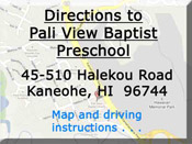 Directions to Pali View Baptist Preschool
